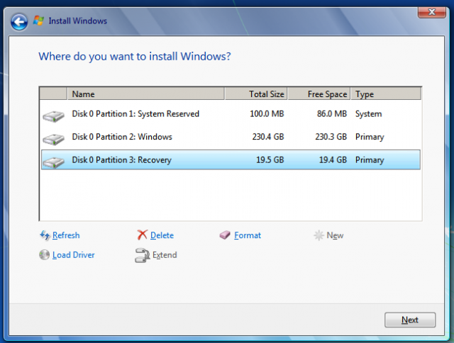 Partition schemes like this one, common on new PCs, can reduce the amount of space you can use on your hard drive.