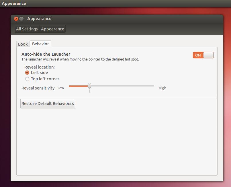 Enabling the Unity dock's autohiding feature.