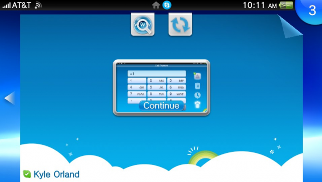 Keeping Skype in standby mode like this will let you receive calls, but drains the battery incredibly quickly.