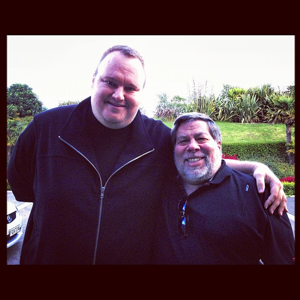 Kim Dotcom and Steve Wozniak in an undated photo uploaded to Instagram
