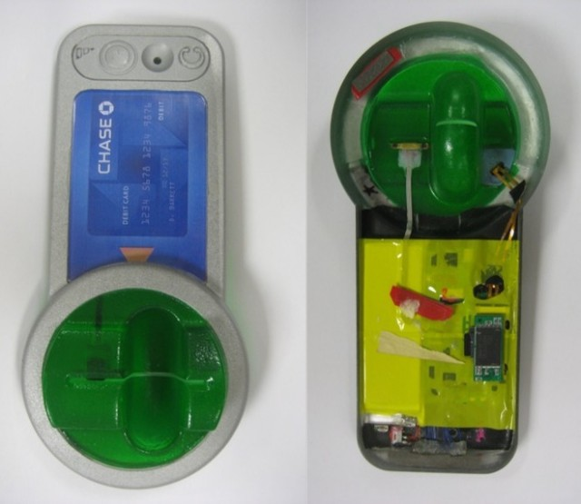 A skimming attack in California used a digital video recorder a with stereo audio input (camouflaged as the card reader cover for the ATM) to capture both video and track data.