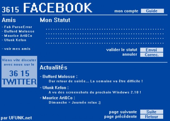 Facebook as re-imagined on Minitel