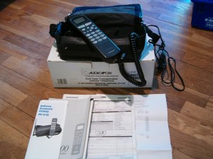 Here's a bag-phone that was sold in 1996, when the FCC last visited its recommendations for radio-wave absorption by the human body.