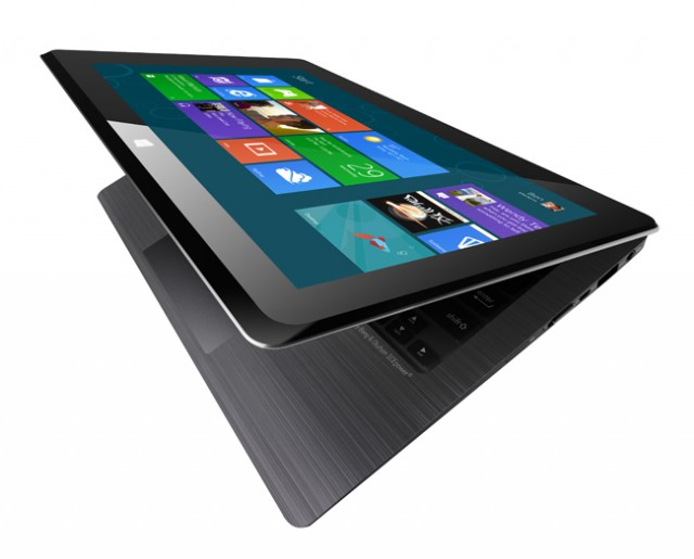 The Asus TAICHI Ultrabooks incorporate a touchscreen and webcam on the lid.