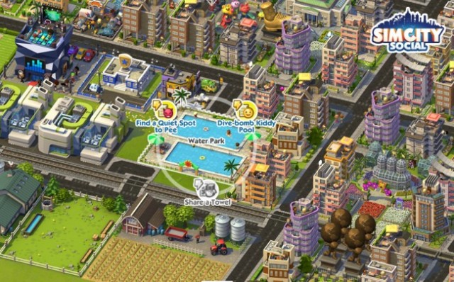 "These kind of ""friend or foe"" decisions are what pass for multiplayer interaction in <em>SimCity Social</em>."