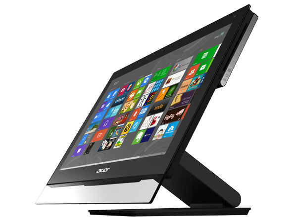 Acer's Aspire 7600U is a more conventional all-in-one, but its screen does swivel 90 degrees into portrait mode.