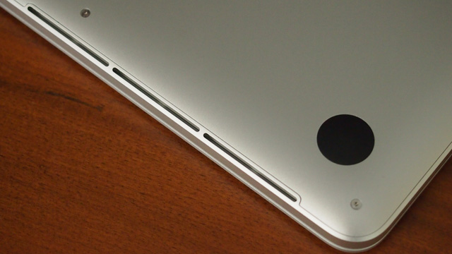 Additional vents line both edges of the Retina MacBook Pro.