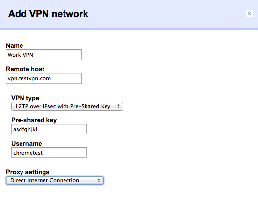 Adding a VPN profile to our managed systems.