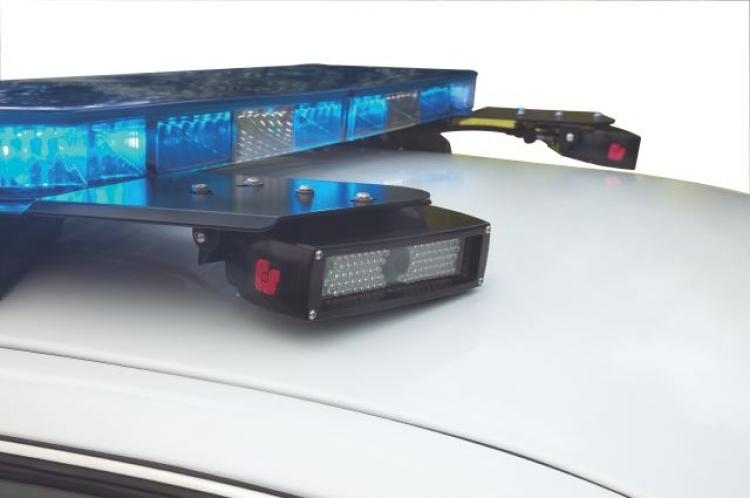 PIPS Technology's LPR fits right on the top of squad cars.