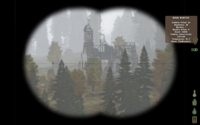 I caught sight of Kumyrna's ruined church from the top of a hill to the east at the end of my second night in game.