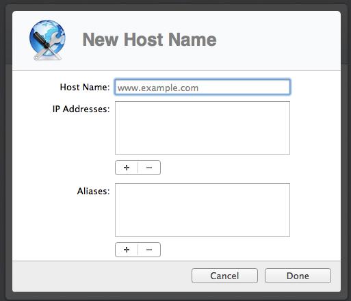 Preparing to configure a DNS entry.