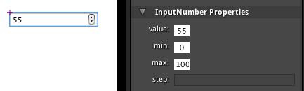 InputNumber properties