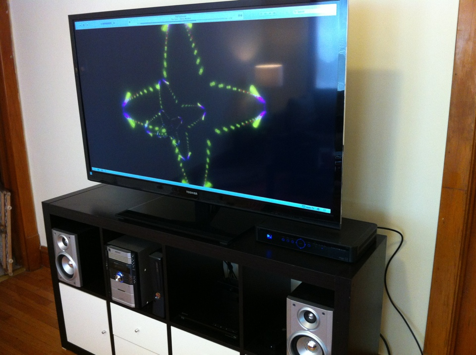 Using AirPlay Mirroring to stream the iTunes visualizer to your HDTV could be fun for parties. (Bonus points for using the Remote app on your iPhone to control the playlist.)