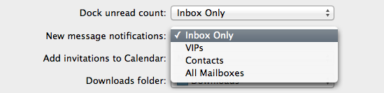 Mail includes a few simple notification options which will probably suffice for most users.