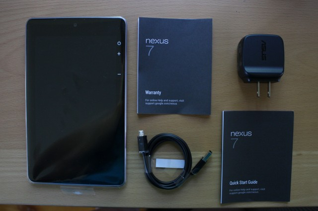 Everything that comes in the box with the Nexus 7.