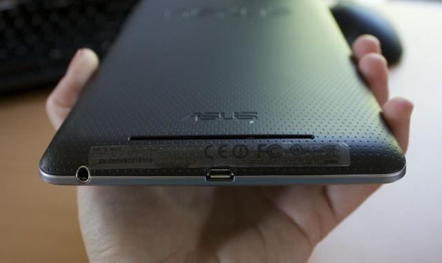 The slot where the Nexus 7's speaker sits.