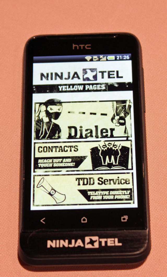 Some of the apps found on the Ninja Tel smartphone.