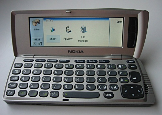 An early Nokia smartphone running Symbian.