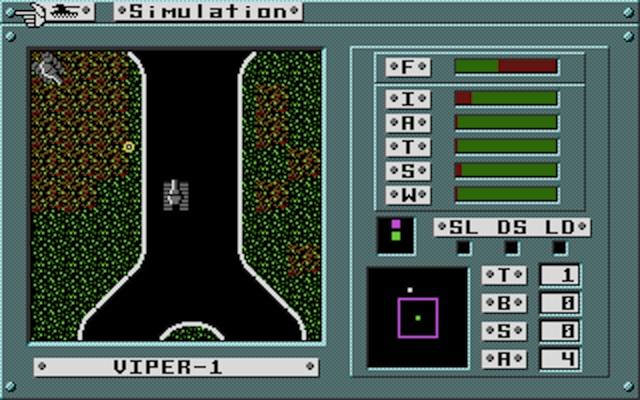Hunting other tanks (Atari ST version).