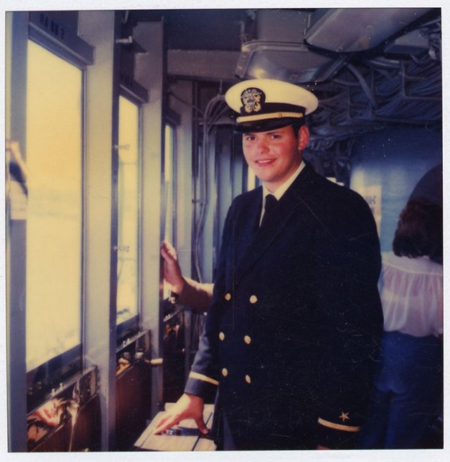 Ars IT Editor Sean Gallagher when he was a young Naval officer.