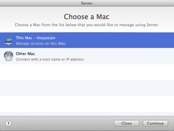 You can download Server.app to client computers and administer your OS X servers remotely.