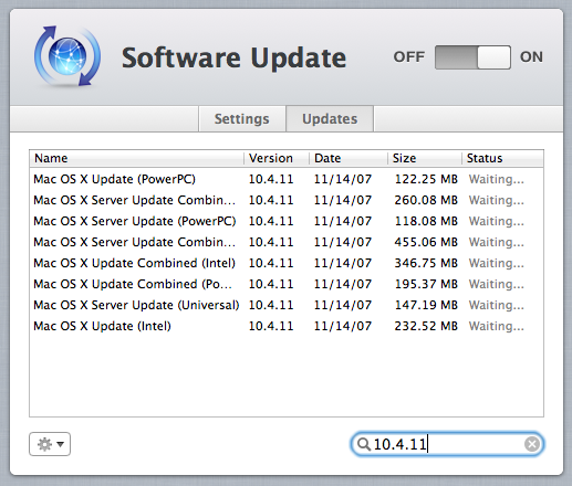 OS X clients all the way back to Tiger can be kept updated with the Software Update service (though if you still have Tiger clients in need of updates in 2012 I'd say you've got bigger problems).