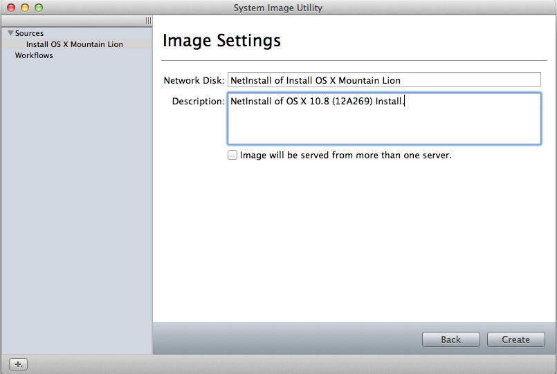 Creating a network-bootable image of the Mountain Lion installer.