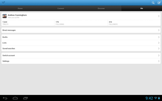 Twitter on the Xoom: wasting space since 2011.