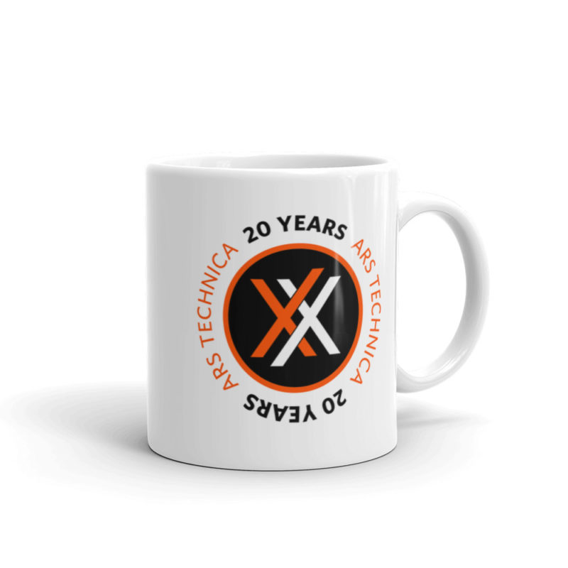 Ars 20th Anniversary Mug 11oz Logo