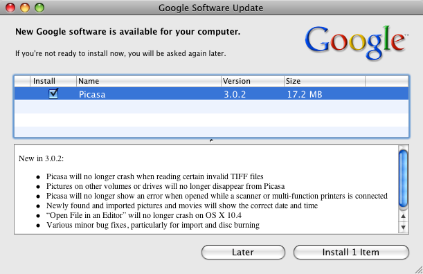 Google software