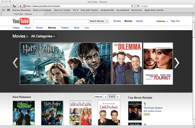 youtube boosts movie rentals with over 3000 hollywood