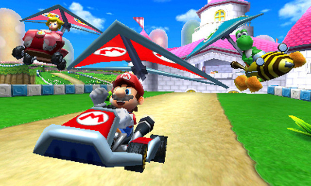 review 3ds mario kart 7 drives cautiously ars technica. Black Bedroom Furniture Sets. Home Design Ideas