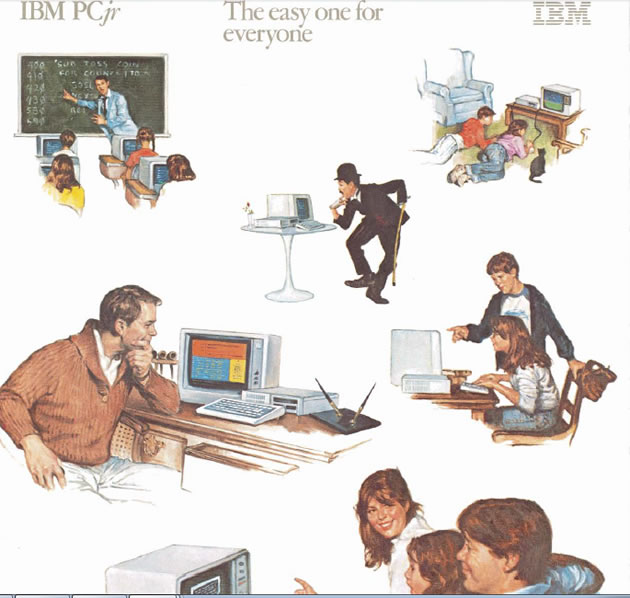 The IBM PCjr, beloved by the whole family, plus Charlie Chaplin.