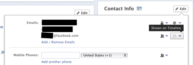 how to change email address on facebook mobile