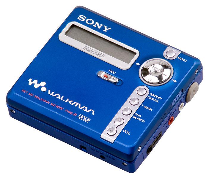 A Sony Net MD Walkman NZ-N707