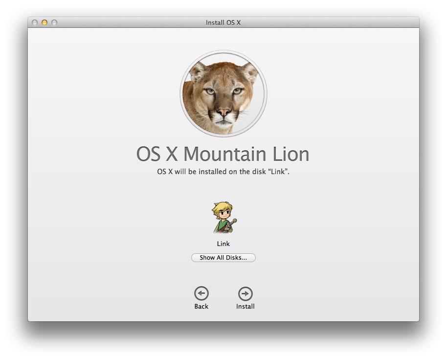 The Mountain Lion installer.