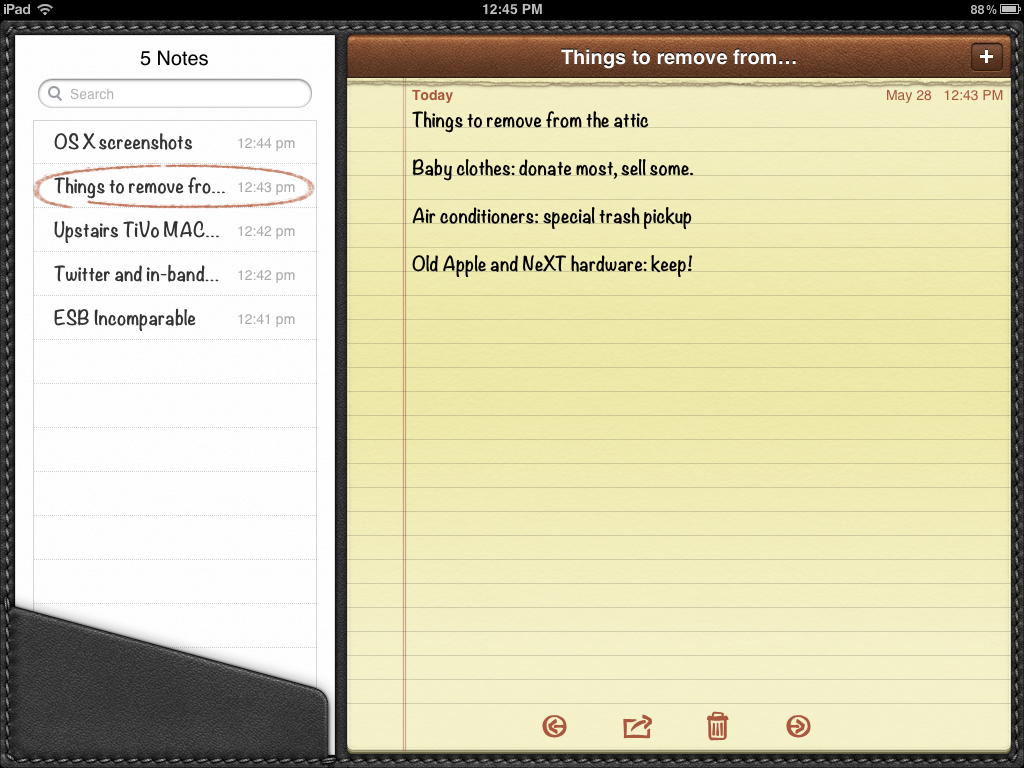 how to add notes on a macbook