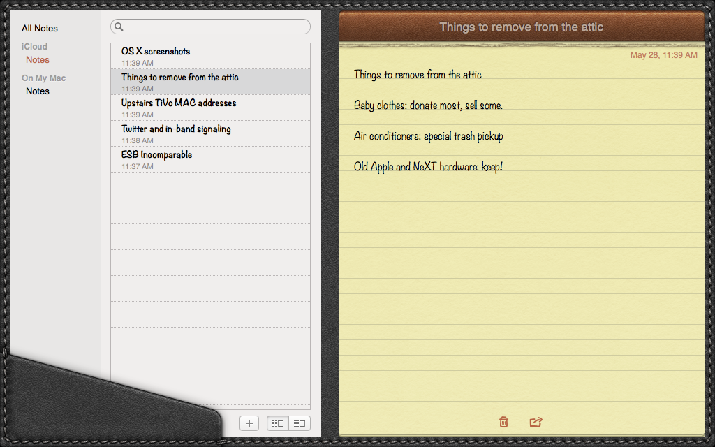 Notes in its full-screen mode.