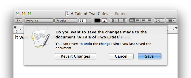 The unsaved changes confirmation sheet makes its triumphant (but optional) return