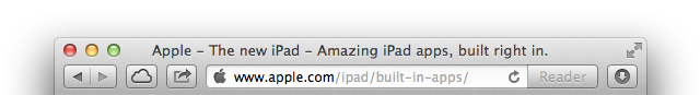 Apple thinks we should focus on the host portion of the URL, not the path. It's a bummer for Web developers, though.