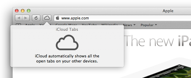 iCloud tabs in Safari: availability instead of synchronization.