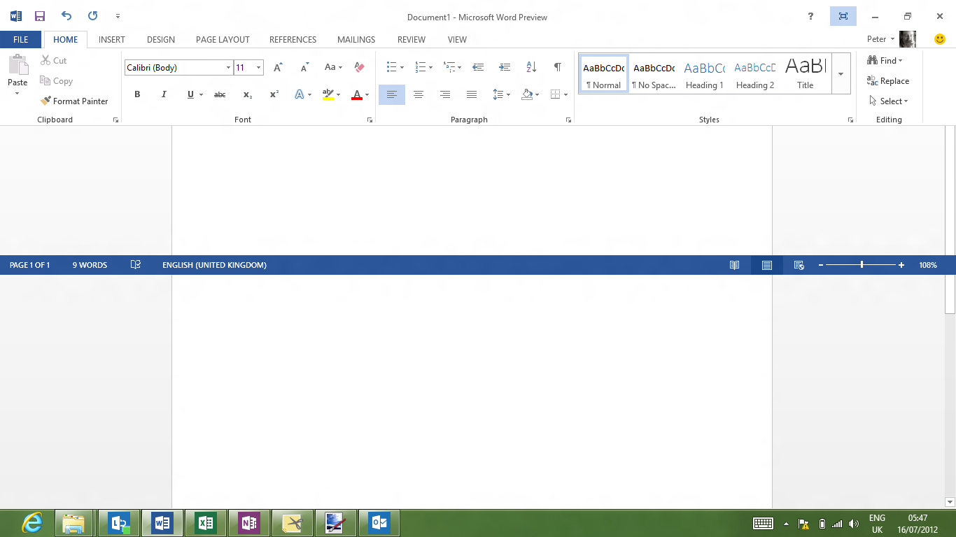 how to delete black bar in word