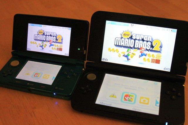 The top screen on the 3DS XL takes up a larger amount of the available real estate thanks to a smaller surrounding bezel.
