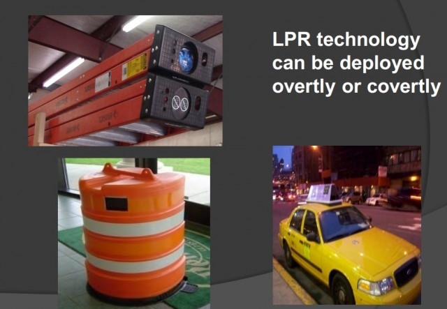 Cops can hide LPRs in traffic barrels and ladders.