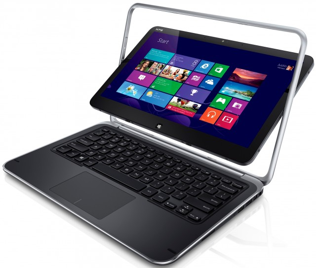 The XPS Duo 12. Dell has not released final measurements or weight, but it is said to be about 1.4kg, or 3.09 pounds.