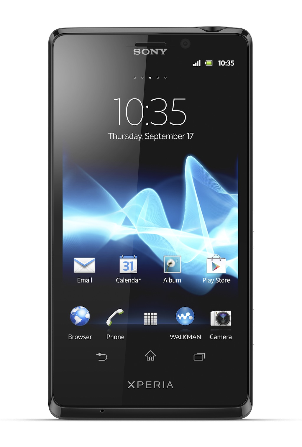 "The Xperia T measures 5.09"" x 0.37"" x 2.65"" and weighs 0.31 pounds."