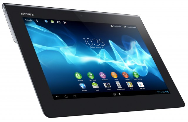 "The Xperia Tablet S measures 9.45"" x 0.35-0.47"" x 6.87"" and weighs 1.26 pounds."