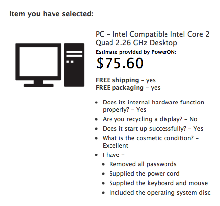 You can even sell some PCs to Apple in exchange for a gift card.