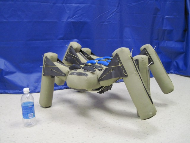 An inflatable hexabot prototype developed at iRobot.