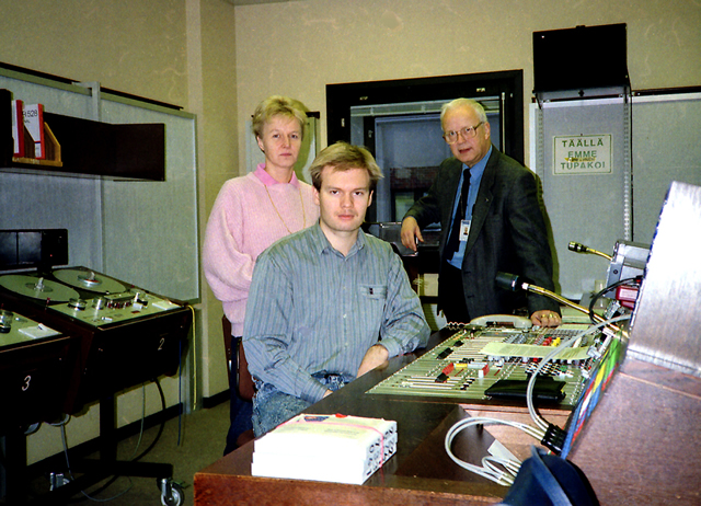 The Silikoni team in November 1988: From the left, Heli Holma, Risto Noponen, and Kai R. Lehtonen.